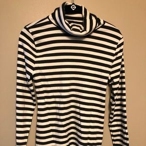 Black and Gray stripped turtle neck NEVER WORN